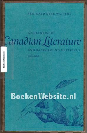 A checklist of Canadian Literature 1628-1960