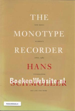 The Monotype Recorder Hans Schmoller