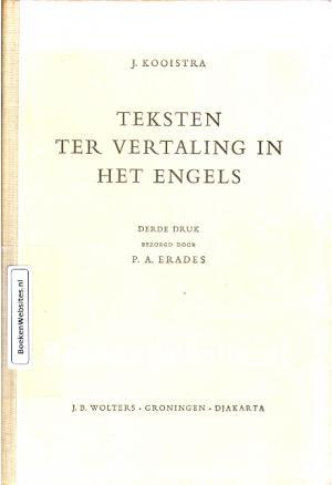 Teksten ter vertaling in het engels j kooistra boeken for Ladenblok in het engels