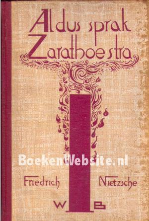 Aldus Sprak Zarathoestra Friedrich Nietzsche Boeken