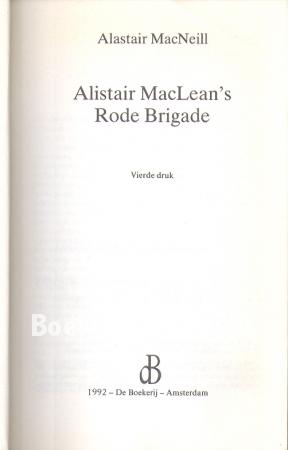 Alistair MacLean's Rode Brigade