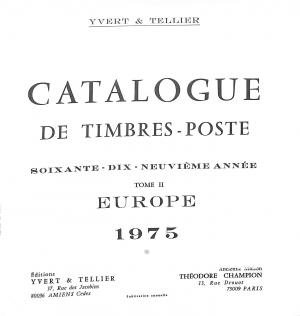 Catalogue Timbre d'Europe