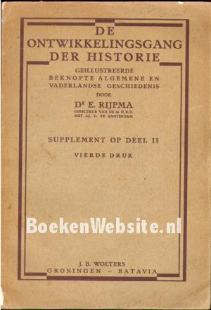 De ontwikkelingsgang der Historie II supplement