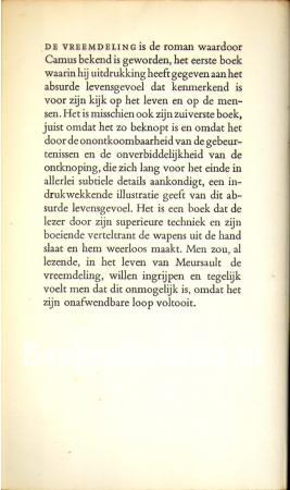 De Vreemdeling Albert Camus Boeken Websitenl