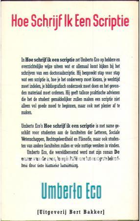 hoe schrijf ik een scriptie of thesis Hoe schrijf ik een scriptie of these / jhj van den heuvel den haag : lemma, 2004 4e dr scriptieproblemen / mja mirande, e wardenaar.