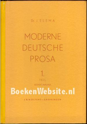 moderne deutsche prosa 1 j elema boeken. Black Bedroom Furniture Sets. Home Design Ideas
