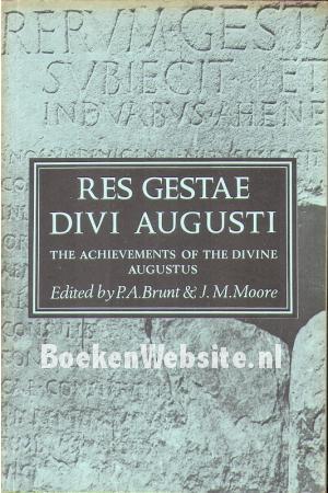 Res gestae divi augusti p a brunt j m moore boeken - Res gestae divi augusti ...