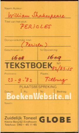 Tekstboek Pericles
