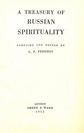 A Treasury of Russian Spiritualteit