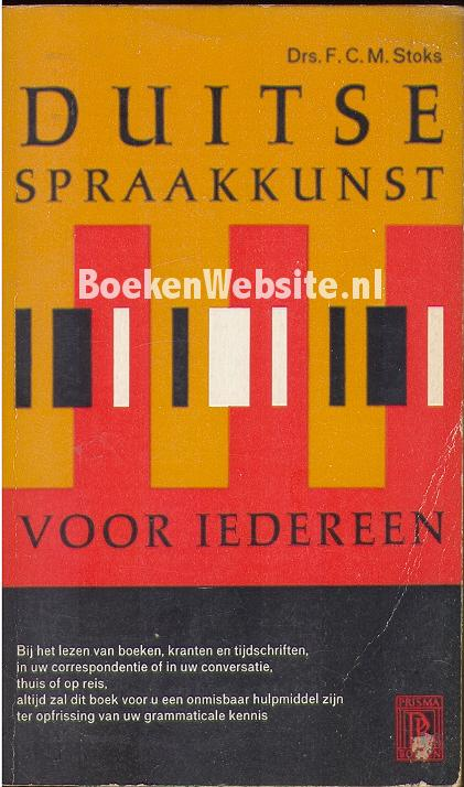 Stoks, F.C.M. - 0489 Duitse spraakkunst voor iedereen