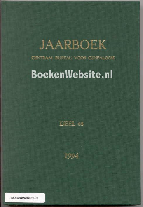- Jaarboek CBG deel 48 1994