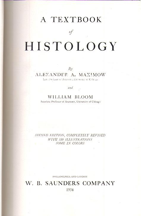 Maximow, Alexander - Bloom William - A Textbook of Histology