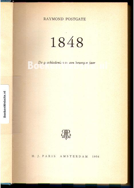 Postgate, Raymond - 1848