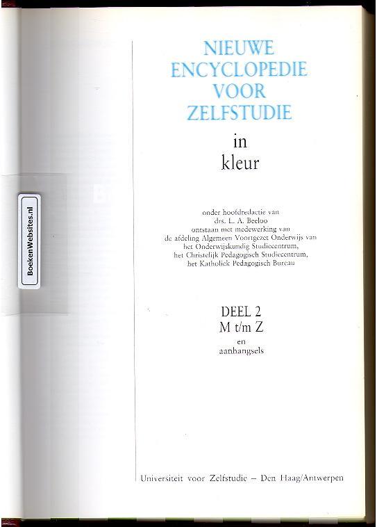 Beeloo, L.A. - Nieuwe encyclopedie voor zelfstudie M-Z