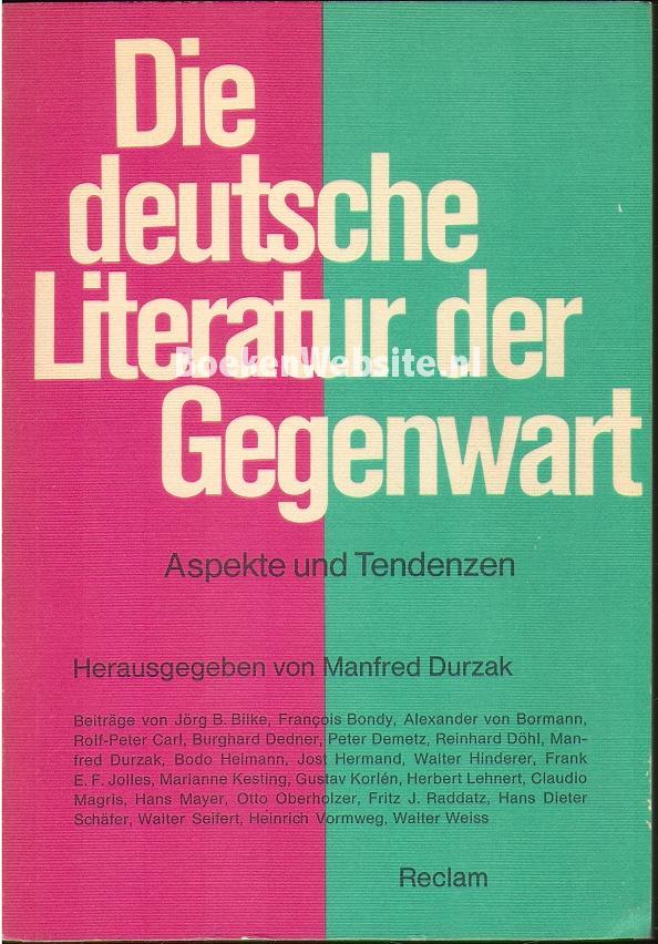 Die deutsche Literatuur der...