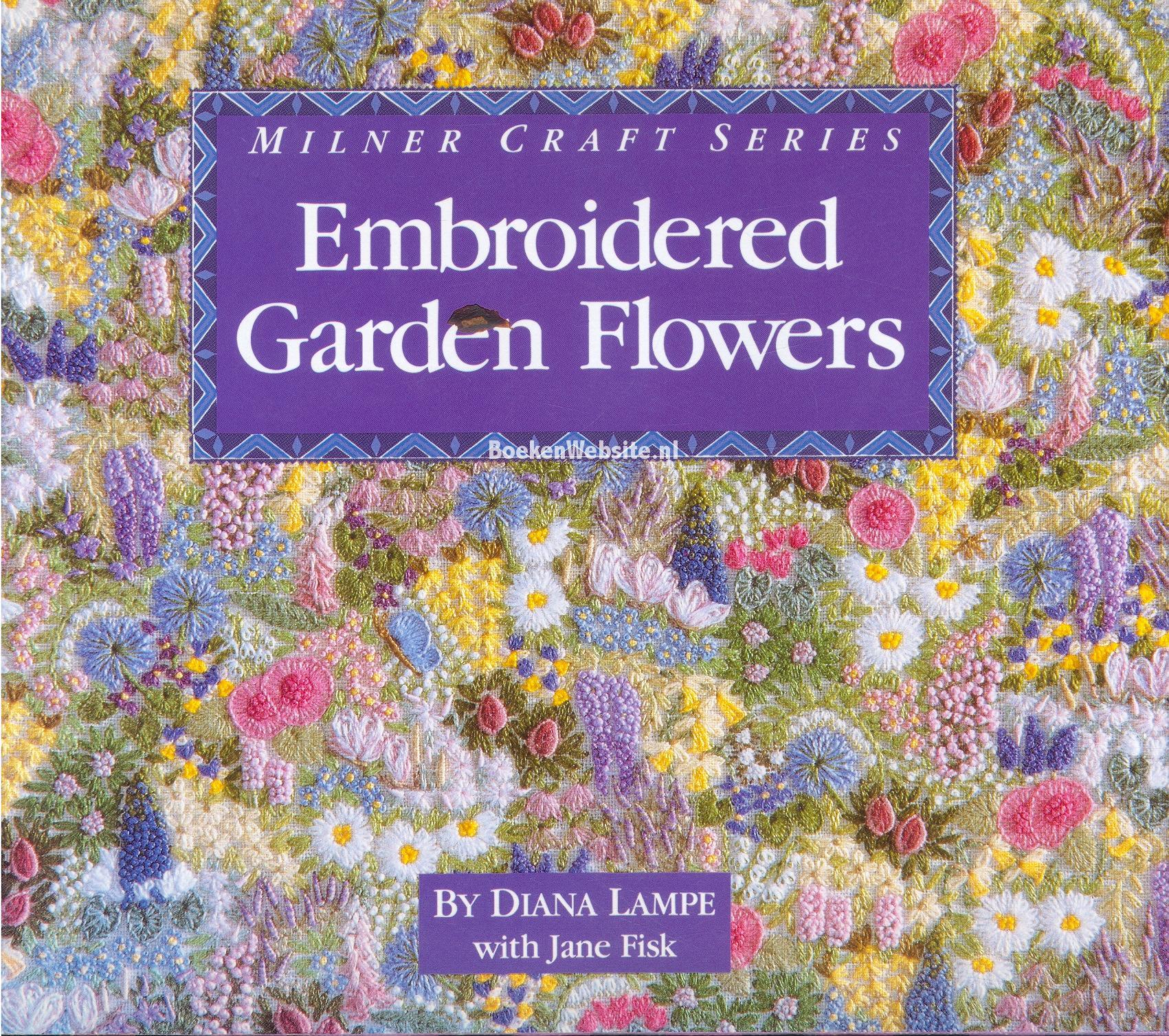 Embroidered garden flowers diana lampe boeken website