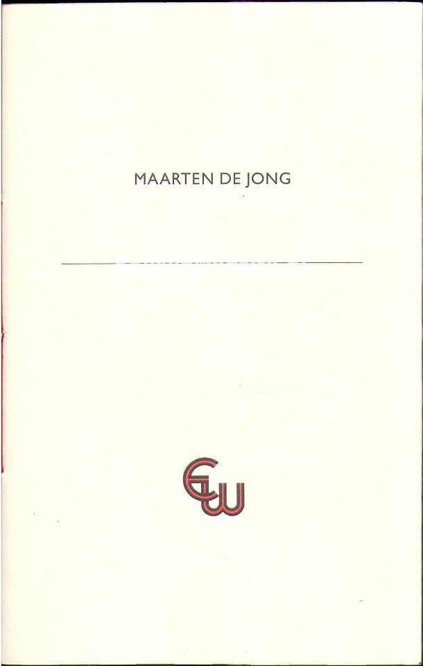 Diversen - Maarten de Jong